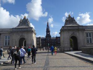 Gates to Christianborg Palace