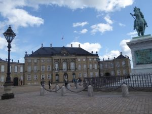 But Crown Prince Frederik is at home (flag flying)
