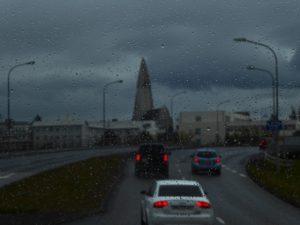 Reykjavik in the gloom
