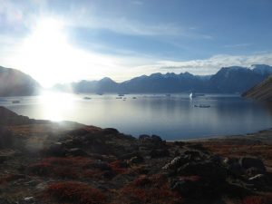 Looking back out at the bay, Frederiksdal