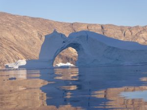 Iceberg arch in the shade