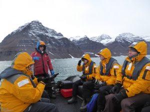 Zodiac cruise at Vikingsbugt