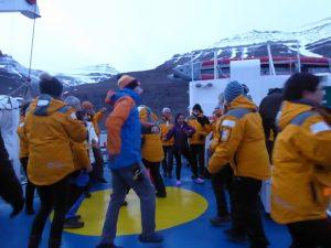 Dancing on deck