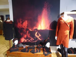 Knitwear inspired by lava