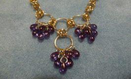 Tear Drop Necklace - grape