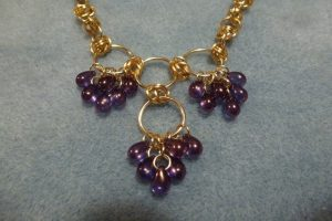 Tear Drop Necklace - grape