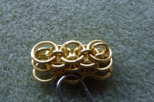 Dragonscale bracelet: pattern emerging