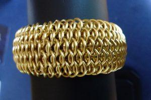 Dragonscale bracelet: finished design