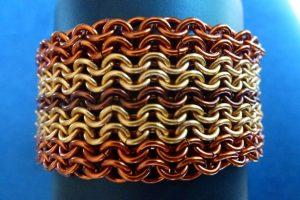 Finished Ruffles Cuff bracelet
