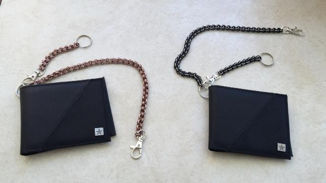 The wallet chains I made for my nephews
