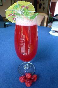 Raspberry Gin with soda