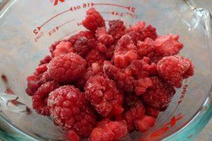 250g raspberries