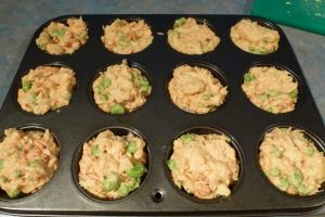 Spoon into muffin tins