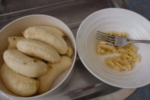 Mash bananas