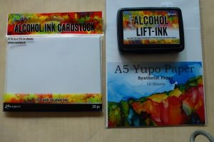 Alcohol Ink Cardstock & Alcohol Lift Ink