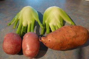 Fennel, potato and kumara