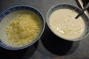 Parmesan cheese and cream