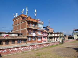 Houses surrounding shrine, Kirtipur