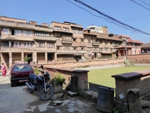 Old houses surrounding central well, Kirtipur