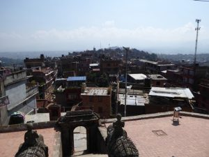 View back to other hill of Kirtipur