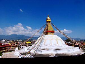 Bodhnath Stupa from Nani's kitchen