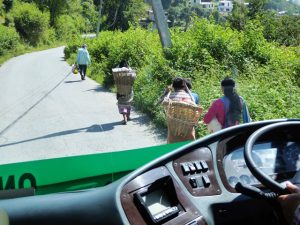 People along the road