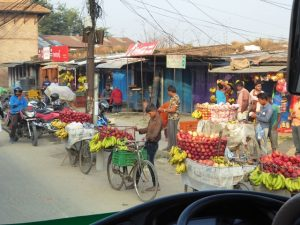 On the road back to Kathmandu