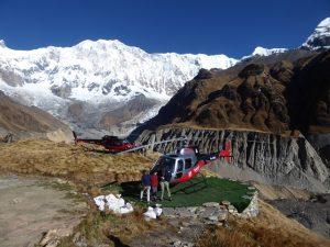 Landing pad Annapurna Base Camp