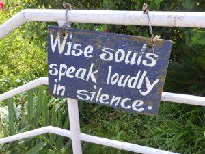 Wise souls speak loudly in silence