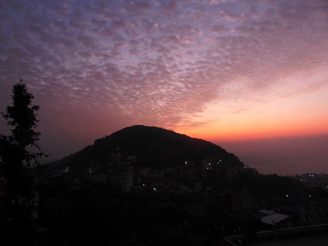 Sunrise over Srinagar Hill