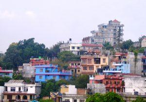 Hotel Srinagar on top of the hill