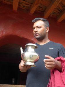 Traditional brass jug