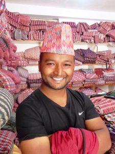 Kishor modelling traditional Tupi