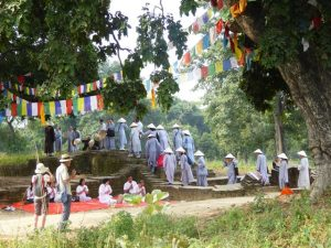 Vietnamese Monks at Kapilvastu