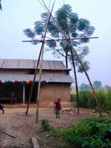 Bamboo Swing built for festival