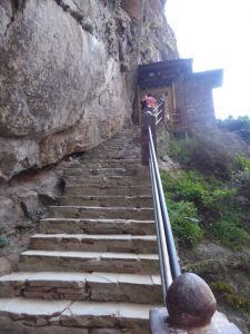 Climbing up to the Tiger's Nest