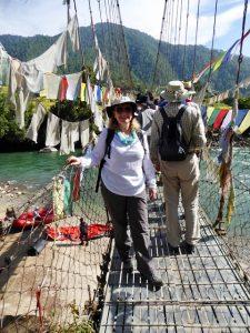 First cross the swing bridge