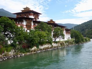 Punakha Dzong from the bridge