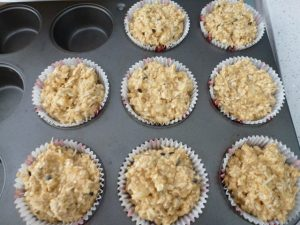 Spoon into muffin tray