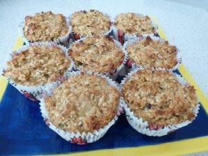 Banana Passionfruit Oat Muffins