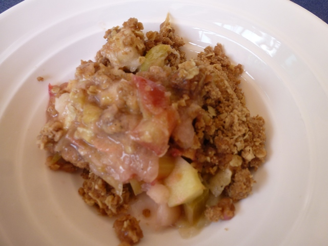 Rhubarb & Apple Crumble