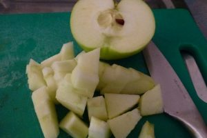 Peel and chop the apple
