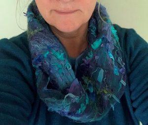 My cobweb scarf