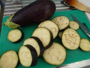 Slice eggplant 1cm thick