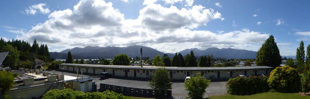 View of Lake Te Anau from my room