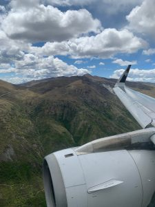 Close to the mountains coming into Queenstown