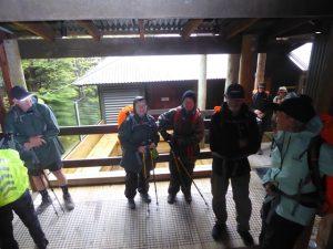 In our raingear ready to start walking