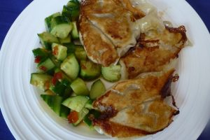 Dumplings and Chinese Cucumber Salad