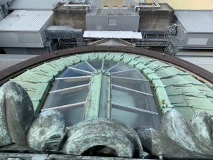 Roof of the memorial shrine