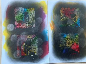 Metallic inks behave differently